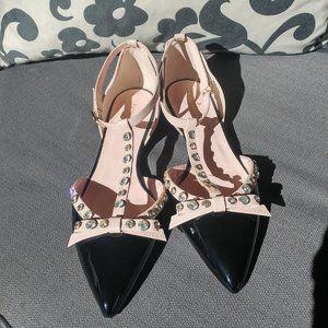 Kate Spade Becca Flats Size 10 Black/Pink